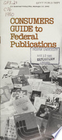 Consumers Guide To Federal Publications
