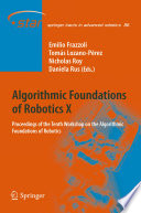 Algorithmic Foundations Of Robotics X Book PDF