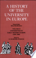 A History of the University in Europe  Volume 2  Universities in Early Modern Europe  1500 1800