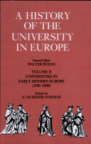 A History of the University in Europe: Volume 2, Universities in Early Modern Europe (1500-1800)