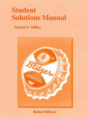 Student Solutions Manual for Introductory and Intermediate Algebra for College Students Book