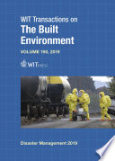 Disaster Management and Human Health Risk VI  Reducing Risk  Improving Outcomes Book
