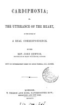 Cardiphonia  or  The utterance of the heart  in the course of a real correspondence  With an intr  essay by D  Russell