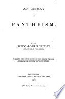 An Essay on Pantheism