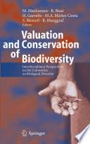Valuation and Conservation of Biodiversity Book