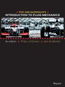Fox and McDonald s Introduction to Fluid Mechanics  9th Edition