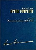 Opere complete: XI: Recensioni di libri (1950-1959)