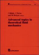 Advanced Topics in Theoretical Fluid Mechanics