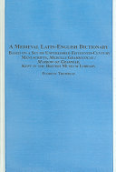 A Medieval Latin English Dictionary