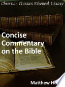 Matthew Henry S Concise Commentary On The Bible