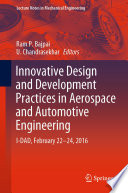 Innovative Design and Development Practices in Aerospace and Automotive Engineering Book