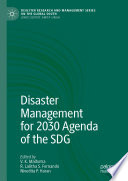 Disaster Management For 2030 Agenda Of The Sdg