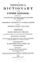 A Topographical Dictionary of the United Kingdom ...
