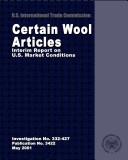 Pdf Certain Wool Articles: Interim Report on U.S. Market Conditions, Inv. 332-427