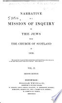 Narrative of a Mission of Inquiry to the Jews from the Church of Scotland in 1839 Book PDF
