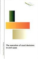 Pdf The Execution of Court Decisions in Civil Cases Telecharger