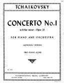 Concerto no. 1 in B flat minor, opus 23, for piano and orchestra