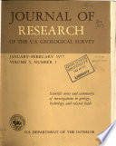 Journal of Research of the U S  Geological Survey Book PDF