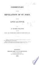 Commentary On The Revelation Of St John On The Apocalypse Etc