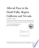 Alluvial Fans In The Death Valley Region California And Nevada