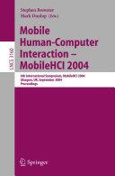 Mobile Human Computer Interaction   Mobile HCI 2004