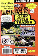 WALNECK S CLASSIC CYCLE TRADER  OCTOBER 1999