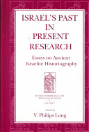 Israel's Past in Present Research: Essays on Ancient ...