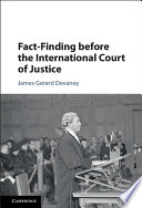 Fact Finding before the International Court of Justice Book