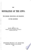 The Restoration of the Jews Book PDF
