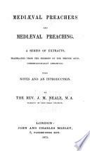 Mediaeval Preachers and Mediaeval Preaching Book