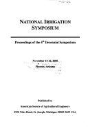 National Irrigation Symposium