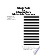 Study Aids for Introductory Materials Courses
