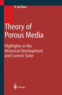 Pdf Theory of Porous Media Telecharger