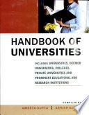 Handbook of Universities