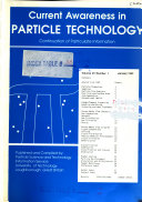 Current Awareness in Particle Technology