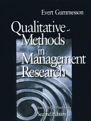 Pdf Qualitative Methods in Management Research Telecharger