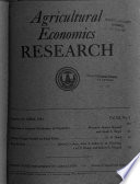 Agricultural Economics Research