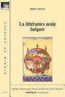 Pdf La littérature orale bulgare Telecharger