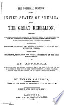 The Political History of the United States of America  During the Great Rebellion Book PDF