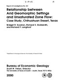 Relationship Between Arid Geomorphic Settings and Unsaturated Zone Flow