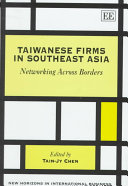 Taiwanese Firms in Southeast Asia Book