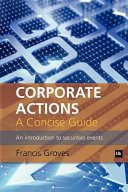 Pdf Corporate Actions - A Concise Guide Telecharger