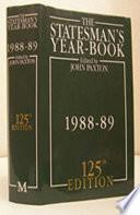 The Statesman S Year Book 1988 89
