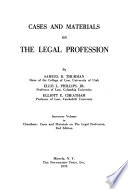 Cases and materials on the legal profession