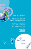 E Government ICT Professionalism and Competences Service Science Book
