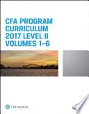 CFA Program Curriculum 2017 Level II, Volumes 1 - 6