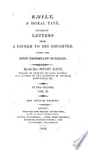 Emily  a moral tale  including letters from a father to his daughter Book