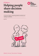 Helping people share decision making