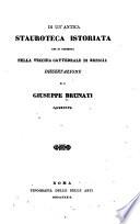 Di un'antica stauroteca istoriata che si conserva nella vecchia cattedrale di Brescia : dissertazione