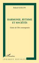 Harmonie, rythme et sociétés [Pdf/ePub] eBook